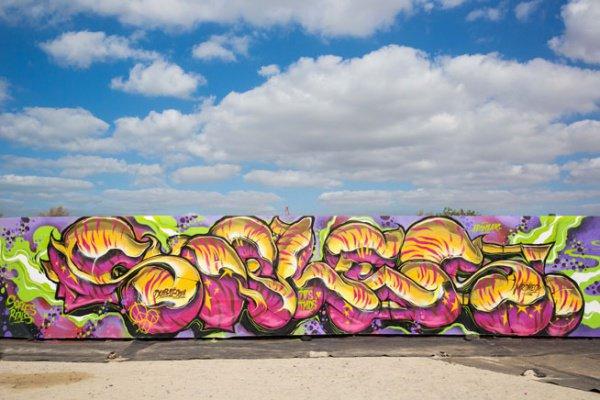 Так в Дубае создавалось самое длинное граффити в мире (+ ФОТО)