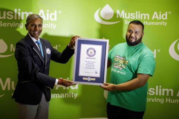 Своим рекордом активисты хотели показать то, как неустанно трудятся приверженцы ислама круглый год