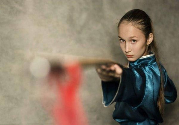 В качестве талисмана казанского турнира выбран снежный барс в костюме ушу в традиционном китайском стиле, застывший в позе приветствия