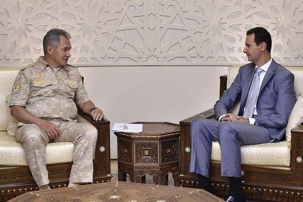 Переговоры Сергея Шойгу и Башара Асада.