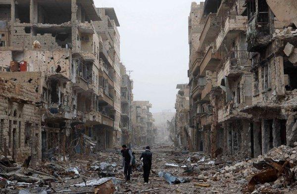 Сирия практически полностью разрушена войной.