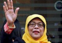 Новый президент Сингапура - мусульманка в хиджабе!