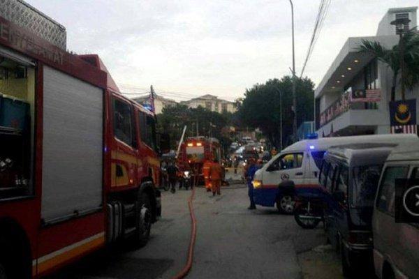 Пожар в малазийском медресе.