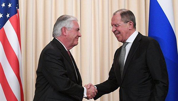 Тиллерсон и Лавров на полях Генассамблеи ООН.