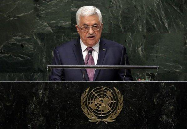 Махмуд Аббас на Генассамблее ООН.