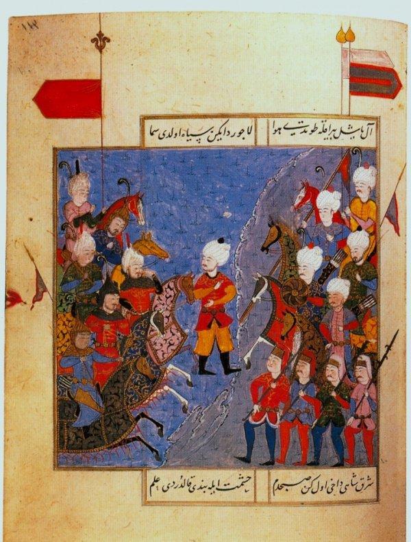 Битва при Чалдыране. Миниатюра из Селимнаме. Конец XVI века