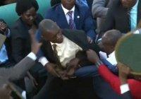 В Уганде депутаты учинили драку прямо на заседании парламента (Видео)