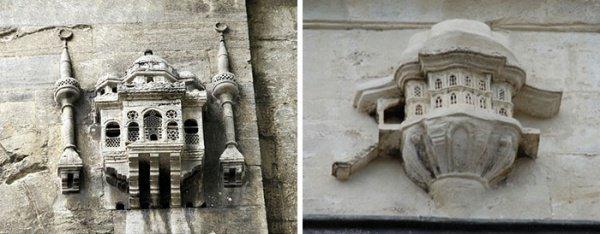 Древнейший из птичьих домов 16-го века прикреплен к мосту Бююкчекмедже в Стамбуле.