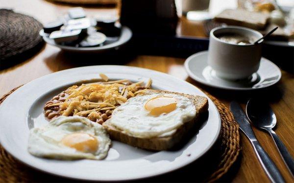 Идеальный завтрак выглядит так: молоко или йогурт, чашка кофе, фрукты, хлеб из муки грубого помола с томатом и оливковым маслом