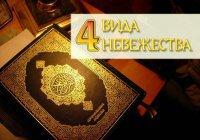 Коран о четырех видах невежества