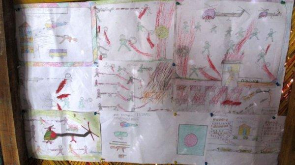 Когда маленькие беженцы рисуют то, что пережили, им становится лучше