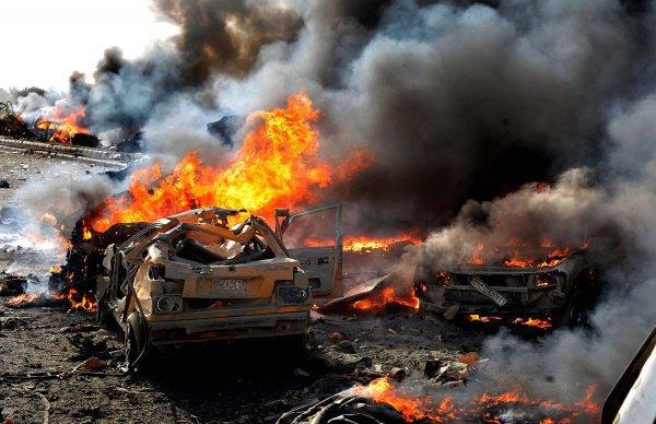 В результате атак погибли не меньше 9 человек, больше 10 получили ранения