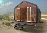 Дома из картона построили в Нидерландах