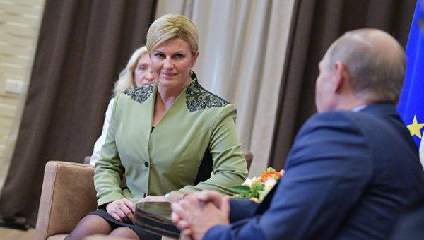 Переговоры президентов России и Хорватии прошли в Сочи.