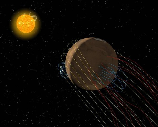 Дальнейшее изучение остатков магнитного поля Красной планеты позволит специалистам точнее выяснить его природу