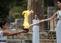 Олимпийский огонь зажгли в Греции