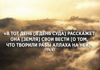 Знамение для размышляющих –  земля «записывает» наши дела