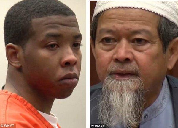 Приговоренный к 31 годам тюрьмы Трей Рельфорд и отец убитого Абдул-мумин Джитмунд
