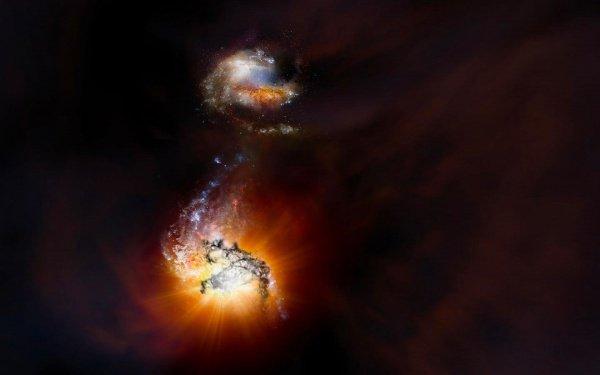 По словам специалистов, слияние 2-х галактик ADFS-27 в эллиптическую галактику можно смело назвать уникальным