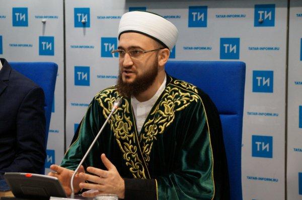 Муфтий Татарстана на пресс-конференции.