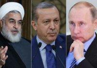 Путин обсудит Сирию с президентами Ирана и Турции