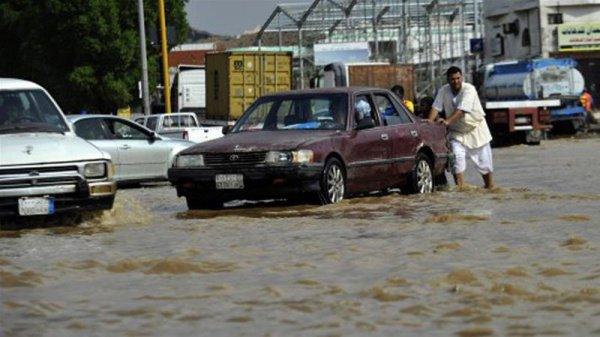 В Саудовской Аравии - мощные проливные дожди.