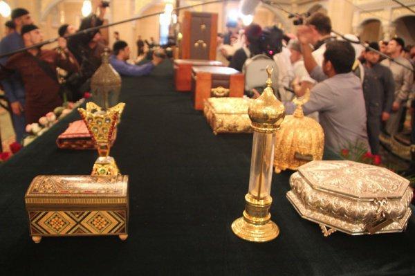 """Выставка реликвий в мечети """"Сердце Чечни""""."""