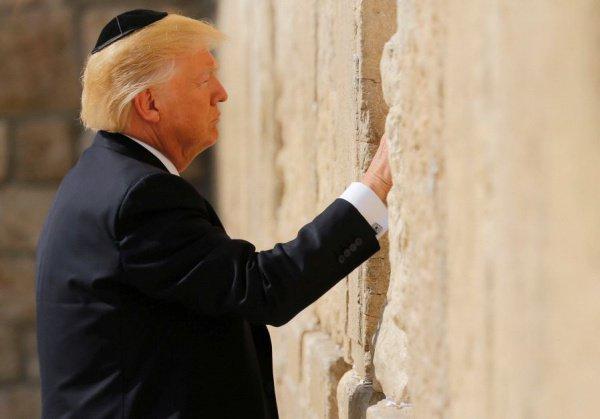 Дональд Трамп во время визита в Иерусалим в мае 2017 года.