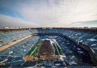 В США взорванный стадион не рухнул (ВИДЕО)