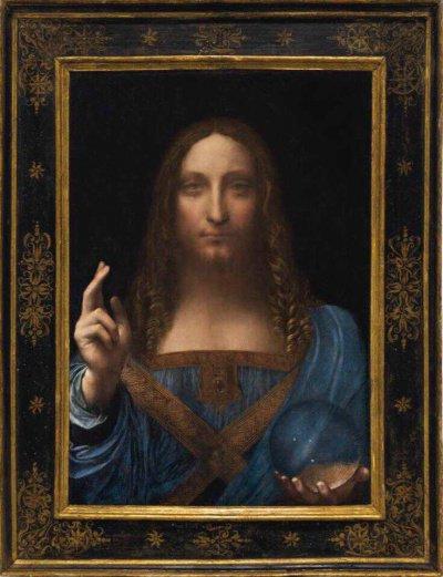 Картина «Спаситель мира» Леонардо да Винчи.