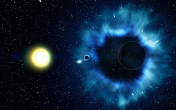 Пока астрономы не знают, как черная дыра смогла настолько быстро достичь таких гигантских размеров