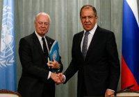 МИД РФ: Лавров и де Мистура обсудят урегулирование в Сирии
