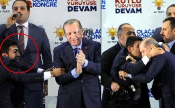 «Просто хотел обнять»: вовремя выступления наЭрдогана накинулся неизвестный мужчина