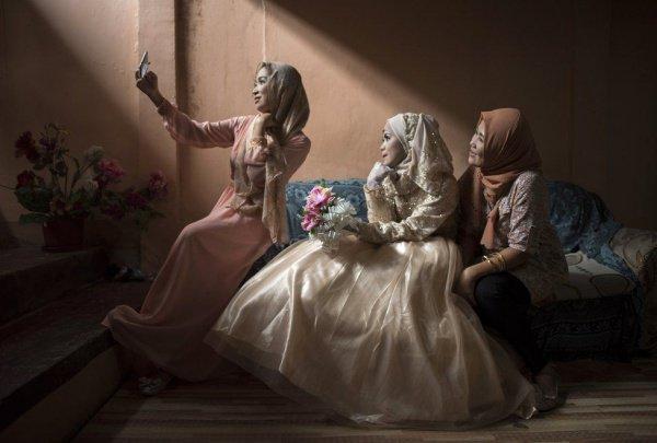 Селфи невесты из Филиппин.