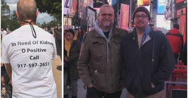 Он сделал футболку с текстом о поиске донора и своим номером телефона
