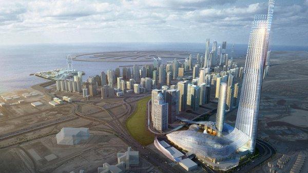 Новый элитный район в Дубае.