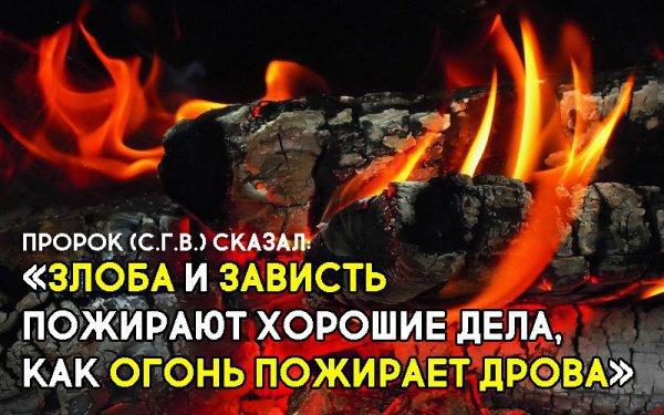 «Злоба и зависть пожирают хорошие дела, как огонь пожирает дрова»