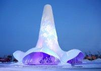 В Китае построили самую высокую ледяную башню в мире
