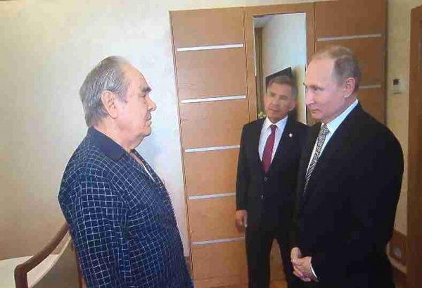 Путин на встрече в Шаймиевым.