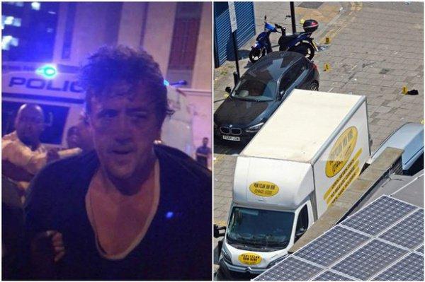 Даррен Осборн был задержан на месте преступления один.