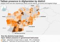 Исследование: «Талибан» контролирует 70% территории Афганистана
