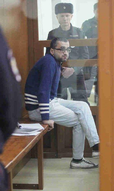 Шамиль Нурмагомедов на заседании суда.