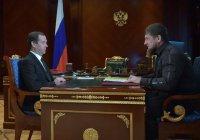 Медведев встретился с Кадыровым в Грозном