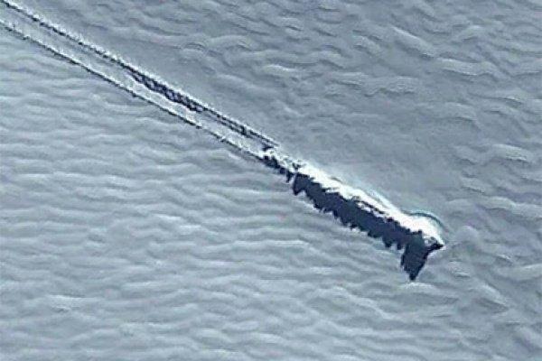 Спомощью карт Google юзеры Сети разглядели «инопланетный корабль» вАнтарктике