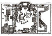 Художник потратил 13 лет на точное изображение квартиры Шерлока Холмса