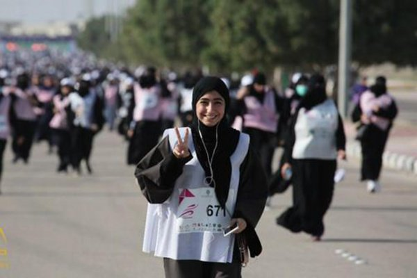 Большая часть участниц выступала в хиджабах.