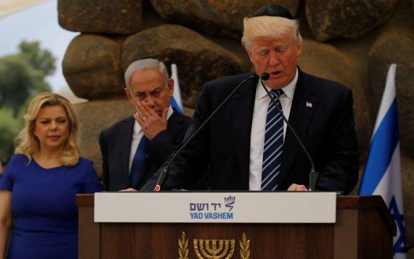 Трамп в ходе визита в Иерусалим в мае 2017 года.