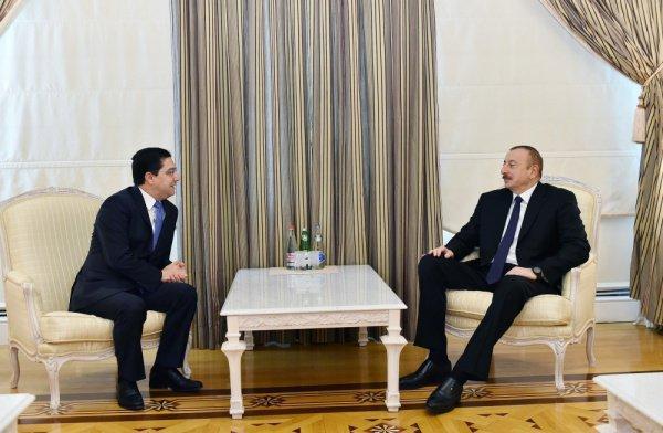 Встреча Ильхама Алиева с главой делегации Марокко.