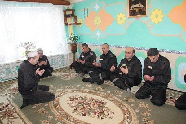 Молельня была оборудована силами самих заключенных.