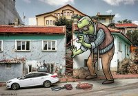 Мужчина украсил улицы Турции великанами (ФОТО)